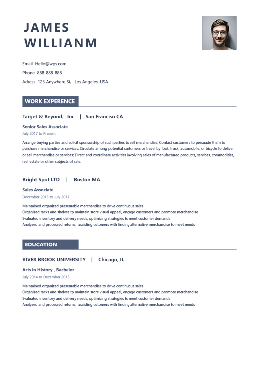 Resume Template Informational